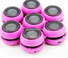 Mini USB  Keychain Hamburger Speaker 3.5mm iPhone iPod PC MP3 Tablet pink