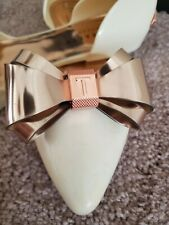 Ted baker Iela shoes, cream / rose gold, size 37