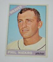 1966 Topps # 28 Phil Niekro - Atlanta Braves - Baseball Card