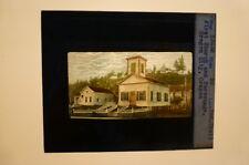 Magic Lantern Slide Indian Trail First Church & Parsonage Oregon City Oregon