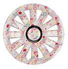 4x PREMIUM DESIGN Copricerchi Coprimozzi COPERTURA DA 15 pollici #72 in fiori