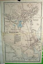 D.G. Beers Map of Danvers, Massachusetts  from 1872  Essex County Atlas