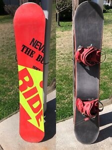 Professional Model Kink Ride Snowboard W/ Tech Nine Bindings - 152 NICE!