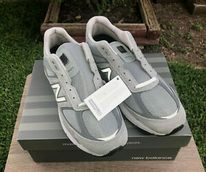 Mens Size 8.5 D New Balance M990GL5 v5 Gray Suede Running Sneaker Shoe Lace Up