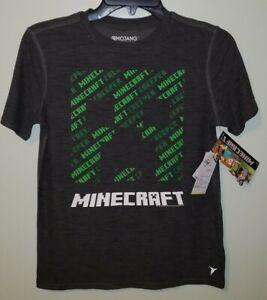 NWT OLD NAVY Boys Minecraft Creeper Tee T-Shirt Tees Shirt Top Black Boys L XL