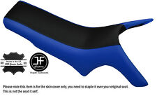 BLACK & ROYAL BLUE CUSTOM FITS MZ MASTIFF BAGHIRA DUAL LEATHER SEAT COVER ONLY