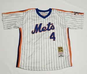Lenny Dykstra 1986 METS MITCHELL & NESS 25TH ANNIVERSARY Cooperstown Jersey 48 L