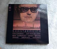 "SHOSTAKOVICH ""FOUR CONCERTOS "" 3 LP BOX SET CBS 77394   MINT -"