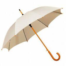 Impliva Large Windproof Automatic Wooden Shaft Crook Handle Rain Event Umbrella