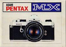 Pentax MX Manuale istruzioni in italiano