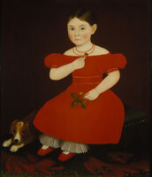 Ammi Phillips : Girl in a Red Dress : 1835 : Archival Quality Art Print