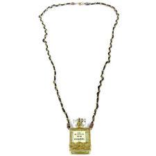 CHANEL Vintage CC Perfume Bottle Gold Chain Pendant Necklace Authentic JT09255a