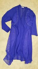 Espera big size sheer blue jacket w lace detail sz6 preowned Free postage D1