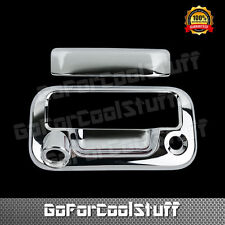 FOR FORD 08-16 F-250 F-350 F-450 SUPER DUTY CHROME TAILGATE HANDLE COVER W/ KH C