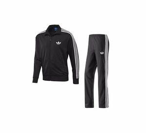adidas Firebird Full Tracksuit Colour Black White Size S Small New RRP £95/-