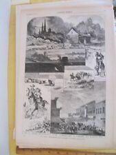 Vintage Print,LEAF FROM WESTERN SKETCH BOOK,Harpers,Nov 1873