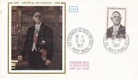 FRANCE 9 NOVEMBER 1971 CHARLES DE GAULLE FIRST DAY COMMEMORATIVE COVER CDS