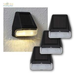"Discreet Small Solar Wall-Mounted "" Wall Mini "" IN 3er Set Warm LED"