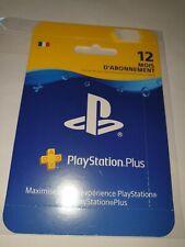 Carte PlayStation Plus - 12 Mois D'abonnement - Neuf