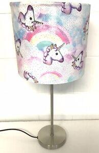 "Glitter Swarovski Rhinestone Unicorn Rainbow Table Lamp Shade 20cm (8"")handmade"