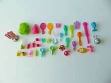 Polly Pocket ~ Accessories ~ Hairbrushes Drinks Bags ~ Lot of 35 Pieces ~
