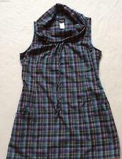 PATAGONIA Tunic Sleveless Shirt Dress Cotton Plaid Multi Color Women's size 6