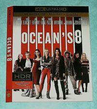 OCEAN'S 8, OVERLORD  4K Blu ray slipcover