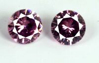 5 Ct/8mm Natural Round AGSL Certified 2 Pcs Pink Sapphire Loose Gemstone Pair