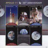 Grenada 2018 MNH Apollo 11 Moon Landing 50th Anniv 6v M/S Space Stamps