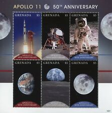Grenada 2018 MNH Apollo 11 Moon Landing 50th Anniv 6v M/S Space Stamps