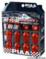 Piaa Super Lightweight Aluminum Locking Lug Nuts Set - Red 12x1.25mm 20pcs+Key