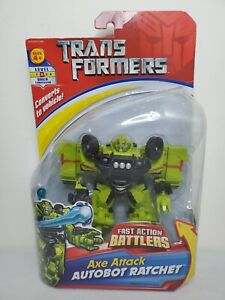 """HASBRO Transformers Fast Action Battlers Axe Attack Autobot 6"""" RATCHET 2007 NEW"""