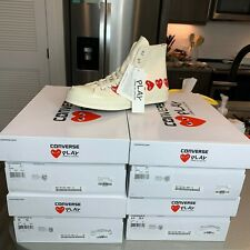 Comme des Garcons PLAY Converse Chuck 70 High Multi Heart Size 10 White 162972C