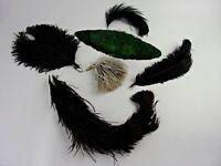 Antique Millinery Feathers Hat Edwardian Ostrich Plumes Applique Supplies