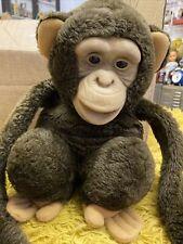 Vintage/retro Monkey Chimpanzee Hand Puppet Ventrloquist With Squeak  80/90s