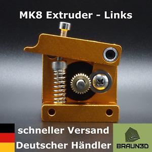 MK8 Aluminium Extruder links 1,75mm Filament Bowden 3D-Druck schnell Versendet