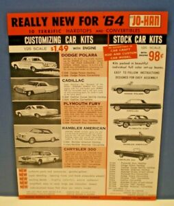 JOHAN Original 1964 Customizing & Stock single sided color Dealer sales flyer