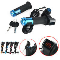 60V 48V 36V 24V EBike Electric Scooter Throttle Grip Handlebar LED Digital Meter