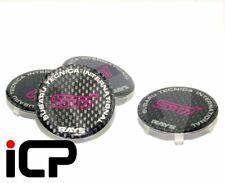 STi Rays Carbon Centre Cap Set Fits: Subaru Impreza S202 Alloys & Rays TE37
