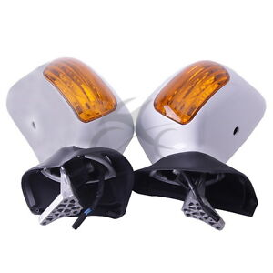 White Left Right Rear View Mirror Signals Fit For Honda Goldwing GL1800 01-17 07