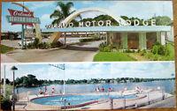 1960 Chrome Postcard: 'Orlando Motor Lodge - Orlando, Florida FL'