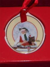Norman Rockwell Santa Collectors Edition Series 1 14K Gold Trim Ornament New