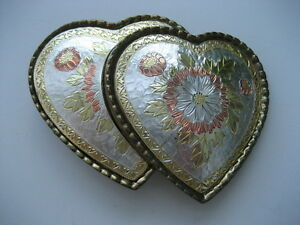 ROMANTIC HEARTS ENTWINED  BELT  BUCKLE  (B176)