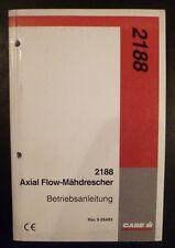 Case moissonneuses-batteuses axial flow 2188 Manuel