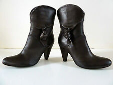PROGETTO GLAM LEATHER BOOTS - MADE IN ITALY - SIZE EU 36 - US 6 MED - NIB - $400
