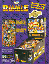 1994 DATA EAST WWF ROYAL RUMBLE PINBALL FLYER