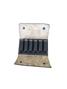 Hand Made Leather Shotgun Choke Case / Cartridge Case Belt Attachable Loop Clay