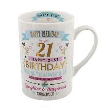 Happy Birthday 21st Signography Mug With Gift Box