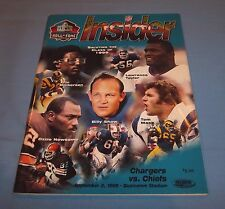 San Diego Chargers vs Kansas City Chiefs 1999 Game Program Magazine HOF Taylor
