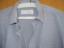 schönes Markenstreifenhemd v. Seidensticker, Gr. 41, grau/schwarz, sehr gut